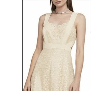 NWT BCBG beige and silver dress